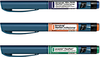 Next Generation Levemir FlexPen, NovoLog FlexPen, and NovoLog Mix 70/30 FlexPen